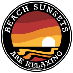 Circle Stickers 3 x 3 300dpi Beach Sunset are relaxing