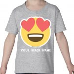 Mockup Toddler Face – Smiling Face Heat Eyes – Your Beach Name