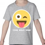 Mockup Toddler Face – Sticking out tong Crazy – Your Beach Name
