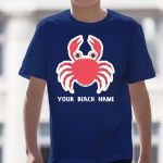 Mockup Youth Animals – Crab – Your Beach Name