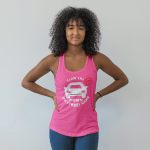 Racerback tank top Slow the BEEP DOWN – Your Street and Beach Name
