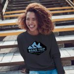 Crewneck Sweatshirt -Mountain Cutout