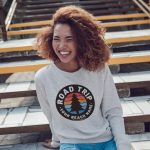 Crewneck Sweatshirt – Tree – Road Trip