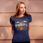Mockup – Womens Camping with Mountain